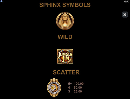 Jungle Jim and the Lost Sphinx Goldenslot game